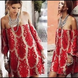 For Love and Lemons Precioso Dress - red/nude